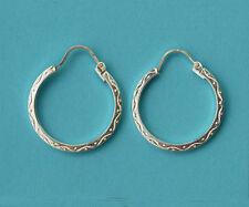 925 Sterling Silver Malta Loop Earrings New