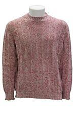 Maglione da uomo rosso bianco Svevo girocollo manica lunga lana casual moda