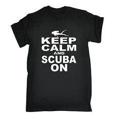 Keep Calm And Scuba On T-SHIRT Swimming Deep Sea Diving Deep Sea birthday gift