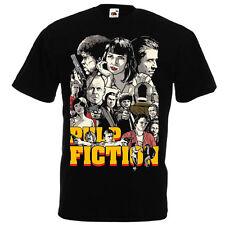 Pulp Fiction Black T shirt Quentin Tarantino '94 John Travolta Samuel L. Jackson