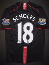 2007-2008 Nike Manchester United Paul Scholes Jersey Shirt Kit England Away