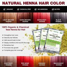 Natural Henna Hair Color - 100% Organic and Chemical Free Henna grey Hair Shine