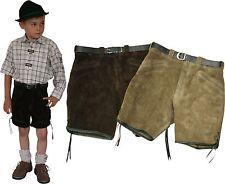 kurze sportliche Lederhose Bermuda Shorts für Kinder