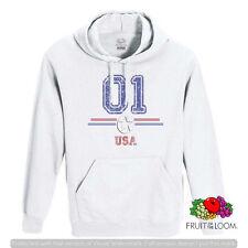 FELPA CON CAPPUCCIO E TASCA  UNISEX FRUIT 01 USA AMERICA F034