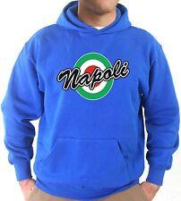 Felpa Con Cappuccio KJ1446 Napoli Coppa Italia Vintage Retro Calcio