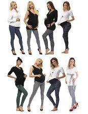 Embarazo Pantalón Patrón Leggings Pantalones de Maternidad Largo Peinada Algodón