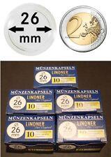 LINDNER Münzkapseln Münzenkapseln für 2 € Euro 26mm 50 oder 100 Stück wählbar