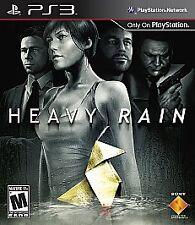 HEAVY RAIN rare PLAYSTATION 3 Game PS3 Serial Killer Black Label Complete vg