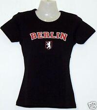 Girlie T-Shirt * Berlin mit Logo Schwarz S - XXL