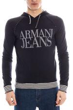 Felpa Armani Jeans AJ Sweatshirt Hoodie -35% Uomo Blu A6M06MB-E5