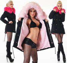 femmes manteau parka veste d'hiver fourrure synthétique capuche douillet OURSON