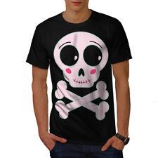 Wellcoda Mignon Métal Rock Crâne T-shirt homme ange, conception graphique imprimé Tee