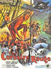 The crimson pirate Burt Lancaster Movie poster print