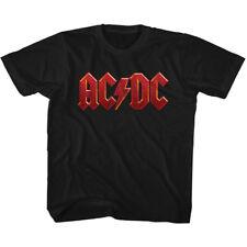 AC/DC Toddler T-Shirt Distressed Red Logo Black Tee