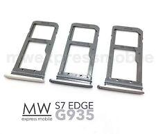 MicroSD+Sim Card Slot Tray Holder Samsung Galaxy S7 Edge G935 Silver Black Gold