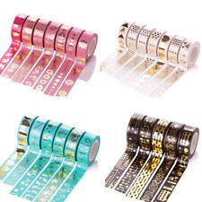 10M Mehrfarben Gold Folia Washitape Washi Band Masking Tape Klebeband Reispapier
