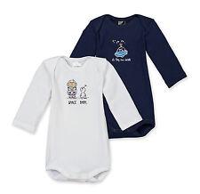 SCHIESSER Baby Body Espace bébé Lot double Gr 68-104 Organes Manches longues 100
