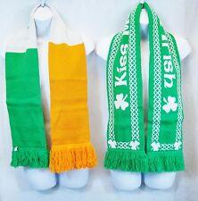 Kiss Me I'm Irish & Clover Irish Flag Muffler Scarves - St Patrick's Day Scarf