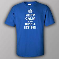 Funne joke T-shirt KEEP CALM AND RIDE A JET SKI boat