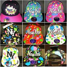 Splash snapback caps, dope bling flat peak baseball fitted hats, hiphop NY fresh