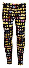 Infantil/Chicas Lindas emoties EMOTICONOS leggings estampados Talla 5 -10 AÑOS
