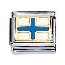 Zoppini Bandiera Nautica X in acciaio, oro e smalto (C1BSB_NX00)