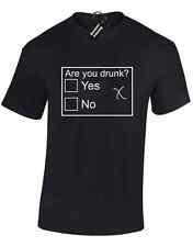 ARE YOU DRUNK MENS T SHIRT FUNNY JOKE FASHION DESIGN NEW PREMIUM QUALITY TOP