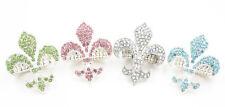Gorgeous New Fleur-De-Lis Crystal Rhinestone Stretch Ring #R1152