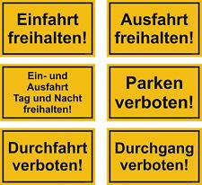 Schild 250 x 150 Kunststoff Hinweisschild Ausfahrt freihalten Einfahrt [#1377]