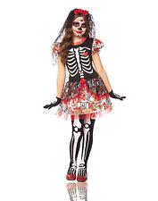 Day Of The Dead Sugar Skeleton Flower Dress Girls Halloween Costume