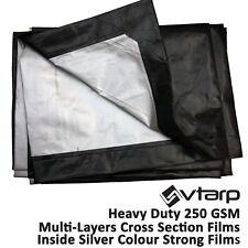 vtarp®  HEAVY DUTY TARPAULIN WATERPROOF EX STRONG COVER GROUND SHEET TARP 250GSM