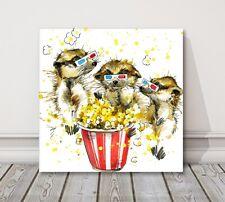 meerkat movies meercat watercolor splash canvas picture print modern art