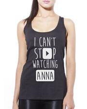 Je ne peux pas arrêter de regarder anna-vlogger star youtubers débardeur femme tank top