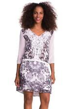 DESIGUAL BY L OLIVIA DRESS 36-42 8-14 RRP£104 BLACK CREAM SWIRLS 196OS  LACROIX
