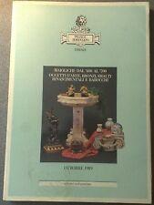 SEMENZATO MAIOLICHE DAL 400.AL700 OGGETTI D'ARTE BRONZI 1989 SEZIONE ANTIQUARIO