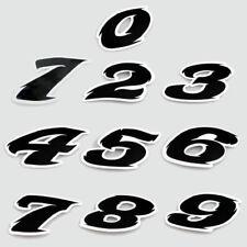 AUTOCOLLANT STICKER NOIR 5.5CM NUMERO CHIFFRE 0 1 2 3 4 5 6 7 8 9 MOTO SCOOT MOB