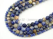 Natural Orange Sodalite Jasper Gemstone Round Spacer Beads 15.5'' 4mm 6mm 8mm