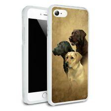 Labrador Retriever Trio Dogs Portrait Hybrid Rubber Bumper iPhone 7 an
