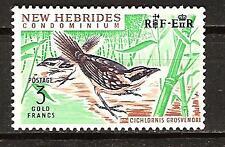 NEW HEBRIDES # 106 Mint THICKET WARBLER BIRD FOWL