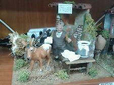 Stalliere pastore in movimento 10 cm  presepe crib Shepherd