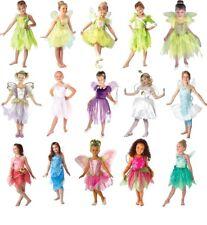 Niño CHICAS Hadas Fancy Dress Costume Libro Semana Día Disney Tinker Bell 3-10 y
