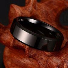 stile punk anello nero foglia contorto taglia UK N