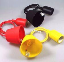 Kabel mit Fassung Lampenfassung verschiedene Farben E27 0,8m Zuleitung