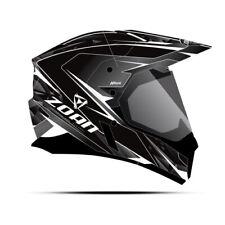 Zoan Synchrony Duo-Sport Hawk Matte Black White Dual Lens Snowmobile Helmet