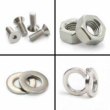 304 Steel Hex Socket Flat head Screws Bolt or Nuts or washer 2#,4#,6#,8#,10#