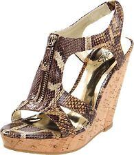 Carlos Santana PURSUIT Brown Snake Wedge Sandal - MSRP $99
