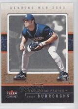 2003 Fleer Genuine #47 Sean Burroughs San Diego Padres Baseball Card