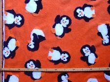 Vliesstoff (€26/m²) 0,5m Kinderstoff applizierte Pinguine Fleece 1,5m breit