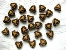 100 Beads,Perlen,Herz,antik, Mittelalter, Kunststoff  (A28)