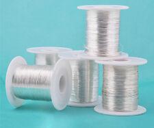 1M 999 Pure Sliver Round Wire Solid Dead Soft Fine Silver Craft Wire 18ga-32ga